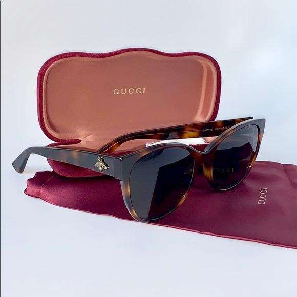 c1fc1cc18e1a8 Gucci Sunglasses Cat Eye GG0097S-006 Havana Brown